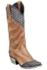 Lane Women's Faded Glory Cowgirl Boots #patriotic #flag #USA