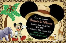 Mickey Mouse Safari Invitation. 2nd birthday already! :(