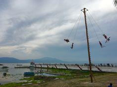 Los voladores de Papantla en Chapala!!! 04/08/16