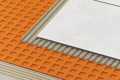 Schluter® -DITRA makes tile installation easy.