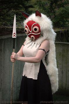 Princess Mononoke Cosplay - Anger of the Wolf Clan by *HylianJean on deviantART
