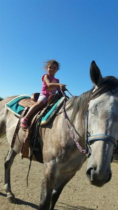 This young #actionrider is ready to hit the trails with her #horse, in a #newsaddle! Photo submitted by Kendra Badillo. #horseriding #horses #equestrians #saddleup #horsecrazy