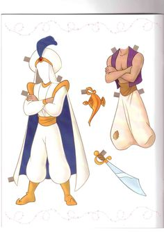 E para completar a nossa coleção, bonecas de papel de príncipes e princesas dos desenhos animados da Disney.