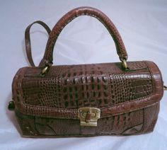 Etienne Aigner Crocodile Embossed Leather Handbag *U.S Residents Only*