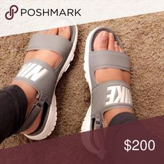 Nike slides Comfy stylish slides great for being on the go and everyday look Nike Shoes Sandals