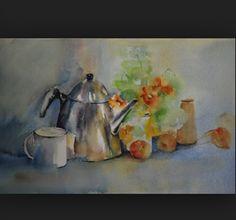 Ik heb dit schilderij gekozen omdat het heel mooi gemaakt is en de theepot en bloemen er ook in terug komen.