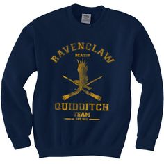 BEATER Ravenclaw Quidditch team Unisex Sweatshirt S-3XL ($35) ❤ liked on Polyvore featuring tops, hoodies, sweatshirts, hoodies sweatshirts, blue hooded sweatshirt, unisex tops, blue top e sweat tops