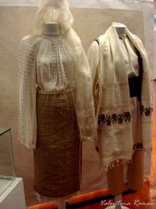 Romanian Traditional Costume for bride and groom at The Romanian Traditional Costume Museum