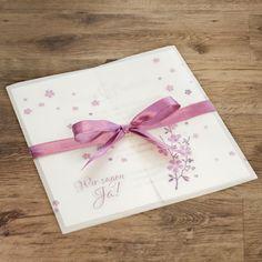 Einladungskarte Hochzeit Kirschblütenzweig