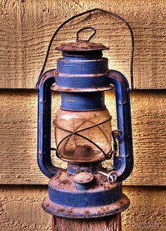 old blue lantern