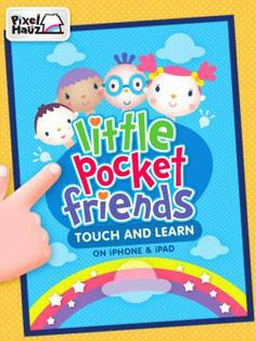 FREE app! Little Pocket Friends-Touch and Learn - a set of 150 flashcards for learning basic vocabulary.