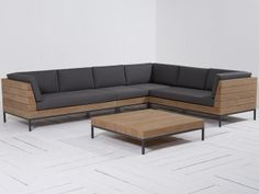 L shape Patio Set SS This Patio wooden sofa L-Shape is made from premium grade Indonesian teak wood. This sofa is suitable for outdoor and indoor . Wood Sofa, Furniture Design Living Room, Sofa Design, Furniture, Sofa Set Designs, Wooden Sofa, Living Room Sofa, Modern Furniture Living Room, Living Room Sofa Design