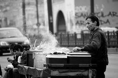 Fish sandwich peddler, Istanbul