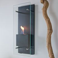 nice, ambiance, *and* handy when the power goes out. Cannello Ventless Wall Mounted Bio-Fireplace