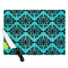 "KESS InHouse Eye Symmetry Pattern Cutting Board Size: 11.5"" H x 15.75"" W x 0.15"" D"