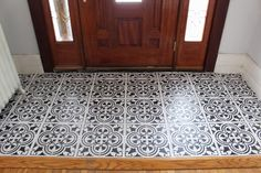 Painted Tile Tutorial Entry Way Makeover (Part 2) | Aratari At HOME {Interior Decorating & Home Decor Blog}