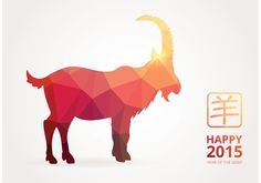 Free Vector Happy Chinese 2015 Polygonal Goat Dog Vector, Free Vector Art, Pig Chinese Zodiac, Capricorn Zodiac Symbol, Cookie Vector, Dance Vector, Happy 2015, New Year Illustration, Chalk Drawings