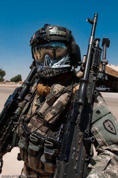 Gentex HGU-56/P with custom Maxillofacial Shield. Aircrew Door gunner