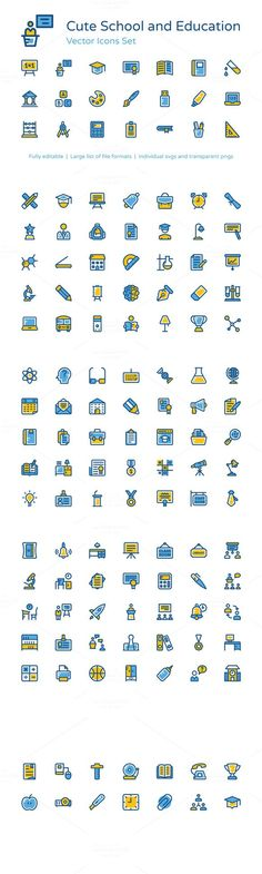 135+ School and Education Icons. Icons. $12.00