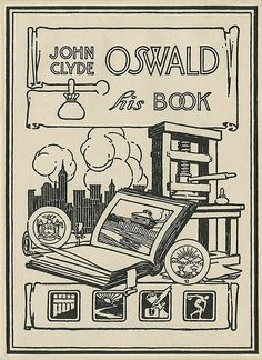 - Bookplate of John Clyde Oswald
