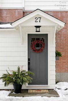 & Front Door Refresh | Kendall charcoal Doors and Front doors