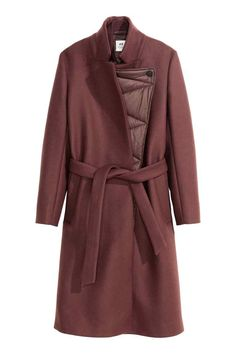 Casaco comprido com lã | H&M