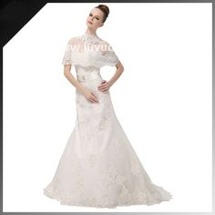 New Gorgeous Brilliant hierarchical muslim wedding gown 2015