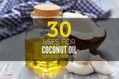 We all know coconut oil is one of the healthiest cooking oils out there. When it comes to a Paleo lifestyle you know you'll see coconut oil used over and over Coconut Oil For Teeth, Coconut Oil Pulling, Cooking With Coconut Oil, Coconut Oil Uses, Benefits Of Coconut Oil, Coconut Milk, Homemade Deodorant, Just Cooking, Cooking Tips
