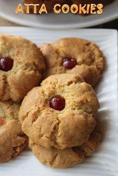 Easy Atta Cookies Recipe - Eggless Whole Wheat Cookies Recipe - Yummy Tummy