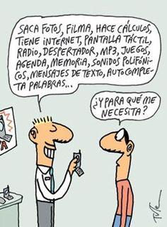 El humor gráfico de Tute sobre la alta tecnología.