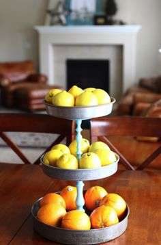 Candlestick cake pan three tier stand.  Easy and cheap!