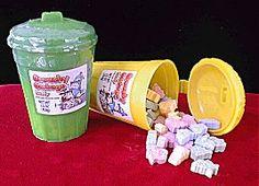 Garbage Candy - remember those sugared fish bones?