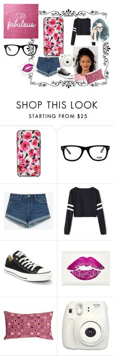"""""""casual outfit"""" by colonkairee on Polyvore featuring Kate Spade, Muse, Zara, Converse, Oliver Gal Artist Co. and Pillow Decor"""