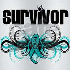 Ovarian Cancer Survivor Deco Food Thermo on CafePress.com