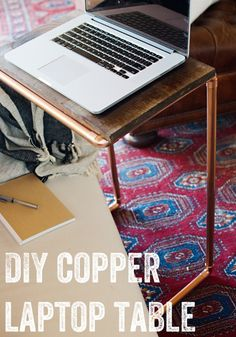 Easy copper DIY project: Laptop Table via @kristenkrason