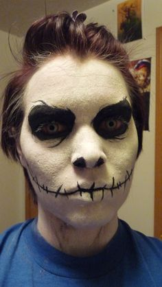 [Jack Skellington Makeup] a darker take. Really like the detail on eyes and cheek shadow. Makeup by_timeflux