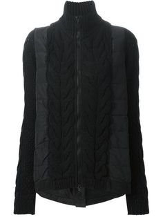 Achetez Moncler bi-material padded jacket en Penelope from the world's best independent boutiques at farfetch.com. Shop 300 boutiques at one address.