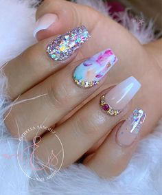 Search for nails at SHEIN. Love Nails, Fun Nails, Pretty Nails, Milky Nails, Cruise Nails, Encapsulated Nails, Baby Boomer, Swarovski Nails, Luxury Nails