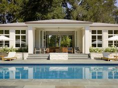 Aleck Wilson Architects provides full scope architectural services grounded in design, materials and detailing. Style At Home, Pool Shed, Pool House Designs, Pool House Plans, Swimming Pools Backyard, Garden Pool, Modern Farmhouse Exterior, Pool Houses, Houzz