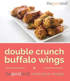 Double Crunch Buffalo Wings | thegoodstuff recipe