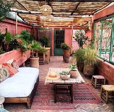 Patio Wall Ideas outside room covered patio.Pergola Patio Interno patio privacy how to build. Outdoor Living Rooms, Outdoor Spaces, Outdoor Decor, Dining Rooms, Outdoor Venues, Indoor Outdoor, Outdoor Furniture, Interior Exterior, Exterior Design