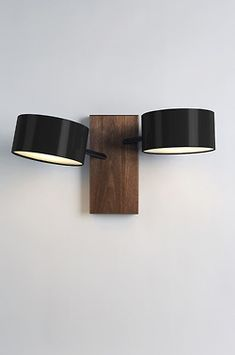 """Excel Double Sconce"" Rich Brilliant Willing, Roll & Hill, 2008 Interior Lighting, Home Lighting, Lighting Design, Bedroom Lighting, Sconce Lighting, Light Fittings, Light Fixtures, Ballon Lampe, Luminaire Applique"