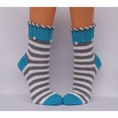 Wool socks Socks Hand-knitted women's socks Cuddly socks size - stitch magic by Dorothea H Crochet Socks, Knitting Socks, Baby Knitting, Knitted Baby, Free Crochet, Baby Boy Booties, Easy Model, Wool Socks, Baby Socks
