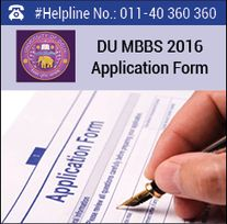 DU MBBS 2016 Application Form