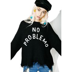 Wildfox Couture No Problemo Chase Sweater ($150) ❤ liked on Polyvore featuring tops, sweaters, wildfox sweater, wildfox tops, knit top, wildfox and knit sweater