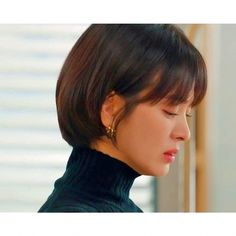Encounter Boyfriend Song Hye Kyo Inspired Earrings 010 - So Not Size Zero Tomboy Hairstyles, Bob Hairstyles With Bangs, Chic Short Hair, Short Hair Cuts, Song Hye Kyo Hair, Song Hye Kyo Style, Best Pixie Cuts, Shot Hair Styles, Boyfriend Song