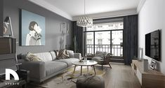 The nordic living room that will make you fall in love with gray Nordic Living Room, Living Room White, Living Room Modern, Grey Home Decor, Home Decor Bedroom, Living Room Decor, Living Rooms, Living Room Built Ins, Dark Grey Walls