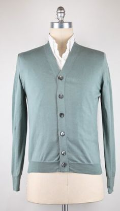 New Brunello Cucinelli Green Sweater XX Large/56 Made In:. Fabric Type:. Retail Price: $580.00.  #BrunelloCucinelli #Apparel