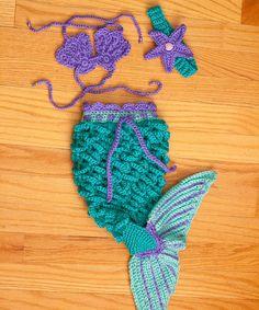 Crochet Mermaid Set Size NEWBORN to 3MO