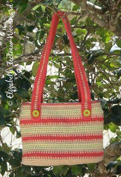 Crocheted Summer Striped Purse